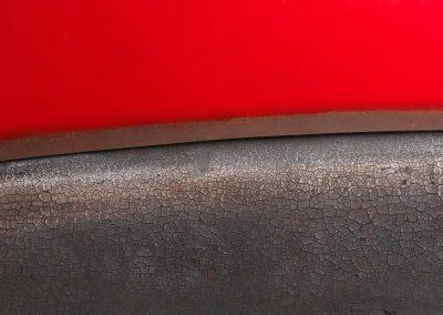 OLTRE-IL-ROSSO-2008,-ferro-e-legno-bruciato,-