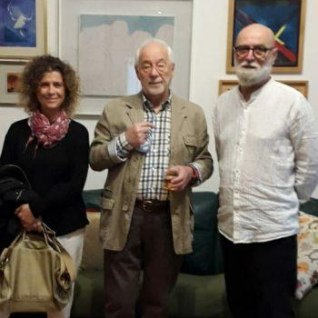 Incontro con il critico d'arte Lucio Del Gobbo nella sua dimora piena di opere d'arte insieme all'artista mia moglie Paola Zago 2020